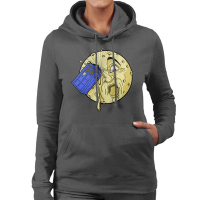 Doctor Who Time Travel To The Moon Women's Hooded Sweatshirt by Karlangas - Cloud City 7
