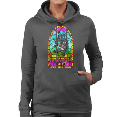 Blues Brothers Stained Glass Window Women's Hooded Sweatshirt by Vinny Palmer - Cloud City 7