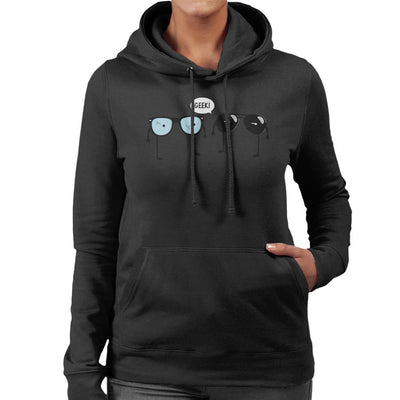 Geek Glasses Women's Hooded Sweatshirt by A Robot Life - Cloud City 7
