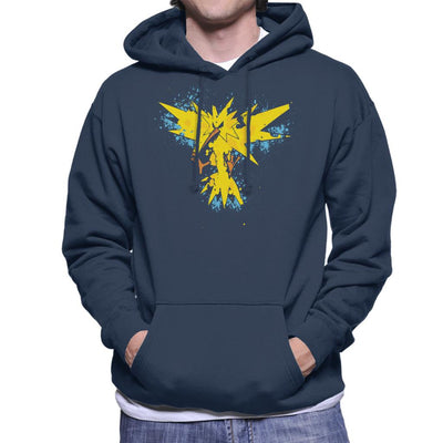 Pokemon Zapados Abstract Men's Hooded Sweatshirt by A Robot Life - Cloud City 7