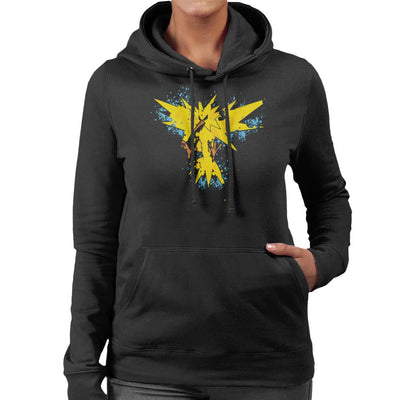 Pokemon Zapados Abstract Women's Hooded Sweatshirt by A Robot Life - Cloud City 7