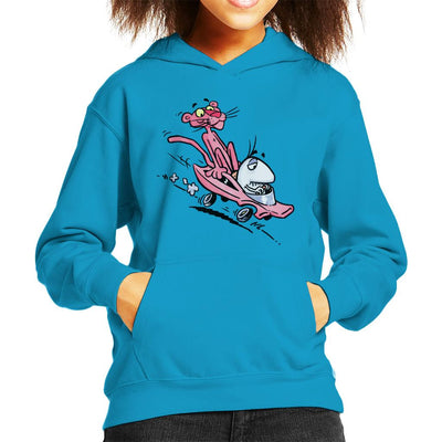 Pink Panther Calvin And Hobbes Mix Kid's Hooded Sweatshirt by Bleee - Cloud City 7
