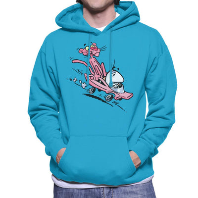 Pink Panther Calvin And Hobbes Mix Men's Hooded Sweatshirt by Bleee - Cloud City 7