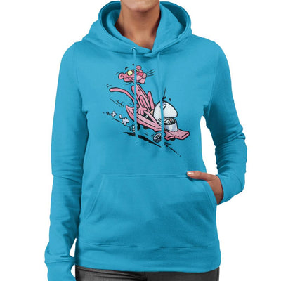 Pink Panther Calvin And Hobbes Mix Women's Hooded Sweatshirt by Bleee - Cloud City 7