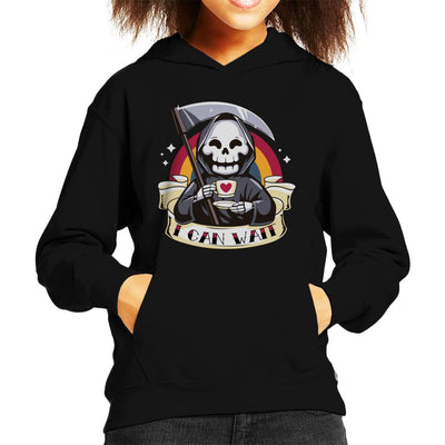Death I Can Wait Kid's Hooded Sweatshirt by Typhoonic - Cloud City 7
