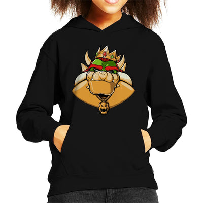 Notorious Boss Bowser Super Mario Kid's Hooded Sweatshirt by Ang Dzu - Cloud City 7