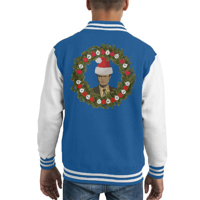 Dreaming Of A Dwight Christmas The Office US Kid's Varsity Jacket by Sassquatch - Cloud City 7