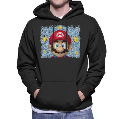 Mario Van Gogh Bros Men's Hooded Sweatshirt by Sebastian Govino - Cloud City 7
