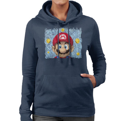 Mario Van Gogh Bros Women's Hooded Sweatshirt by Sebastian Govino - Cloud City 7