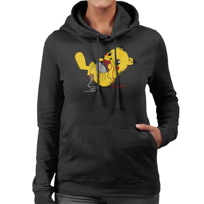 Tangle Them All Cat Pikachu Pokemon Women's Hooded Sweatshirt by Sebastian Govino - Cloud City 7