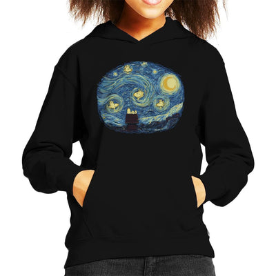 Woody Night Van Gogh Peanuts Kid's Hooded Sweatshirt by Sebastian Govino - Cloud City 7