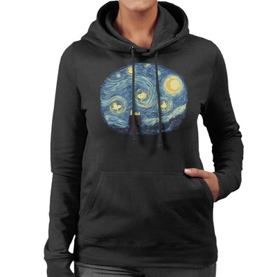 Woody Night Van Gogh Peanuts Women's Hooded Sweatshirt by Sebastian Govino - Cloud City 7