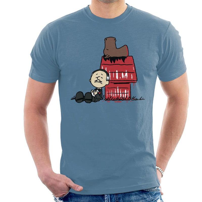 Vito Brown Godfather Peanuts Men's T-Shirt by Raffiti - Cloud City 7