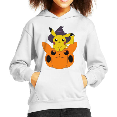 Pika Pumpkin Halloween Kid's Hooded Sweatshirt by Nykos - Cloud City 7