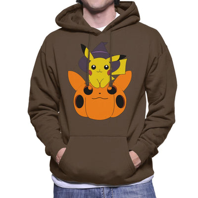 Pika Pumpkin Halloween Men's Hooded Sweatshirt by Nykos - Cloud City 7