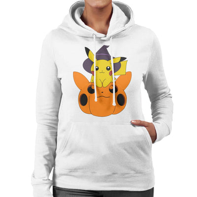 Pika Pumpkin Halloween Women's Hooded Sweatshirt by Nykos - Cloud City 7