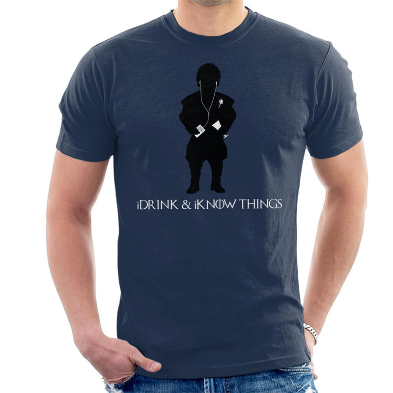 iDrink And iKnow Things iPod Game Of Thrones Men's T-Shirt by Sassquatch - Cloud City 7