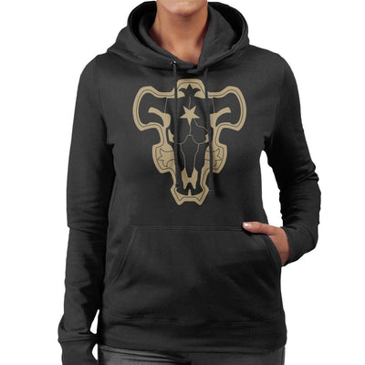 Black Clover Black Bulls Logo Women's Hooded Sweatshirt by Mr.E - Cloud City 7