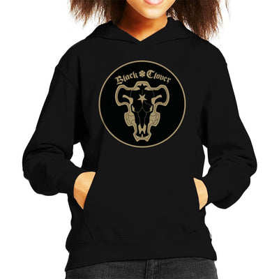 Black Clover Black Bulls Circle Logo Kid's Hooded Sweatshirt by Mr.E - Cloud City 7