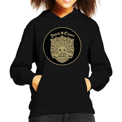 Black Clover Golden Dawn Crest Kid's Hooded Sweatshirt by Mr.E - Cloud City 7