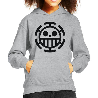 One Piece Heart Pirates Law Kid's Hooded Sweatshirt by Mr.E - Cloud City 7