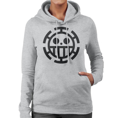 One Piece Heart Pirates Law Women's Hooded Sweatshirt by Mr.E - Cloud City 7