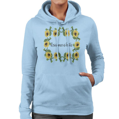 Resistance Is Fertile Women's Hooded Sweatshirt by Mr.E - Cloud City 7
