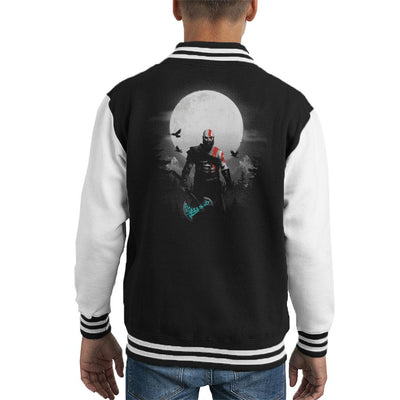 God Of War Kratos Moon Kid's Varsity Jacket by BlancaVidal - Cloud City 7