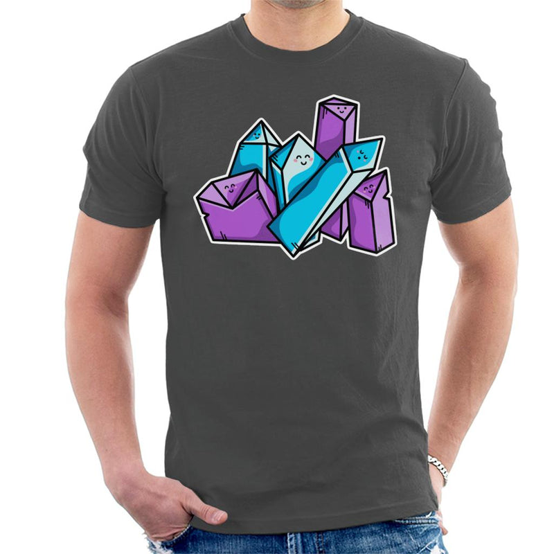 Happy Crystals Men's T-Shirt by Flaming Imp - Cloud City 7
