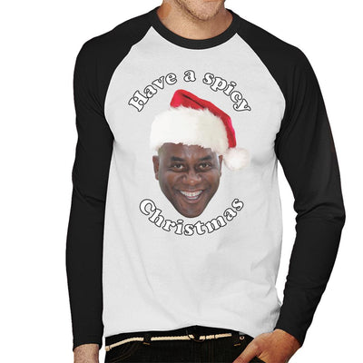 b77a98aac73d Ainsley Harriott Have A Spicy Christmas Men s Baseball Long Sleeved T-Shirt  by Sam Green