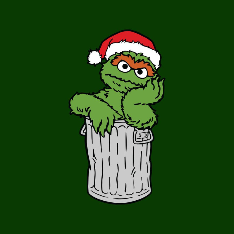 Oscar The Grouch In His Trash Can Christmas Hat Cloud City 7