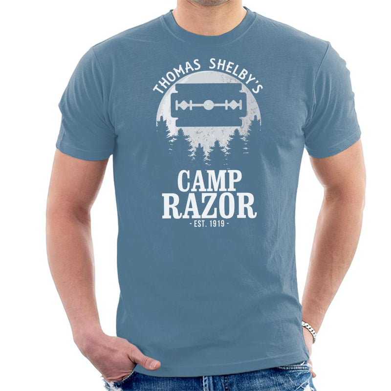 Peaky Blinders Thomas Shelbys Camp Razor Men's T-Shirt by Prosthetic Mind - Cloud City 7