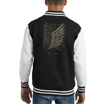 Attack On Titan Recon Corps Emblem Sketch Kid's Varsity Jacket by BlancaVidal - Cloud City 7