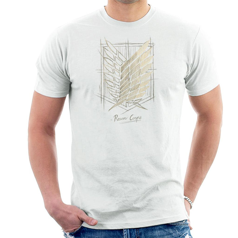 Attack On Titan Recon Corps Emblem Sketch Men's T-Shirt by BlancaVidal - Cloud City 7