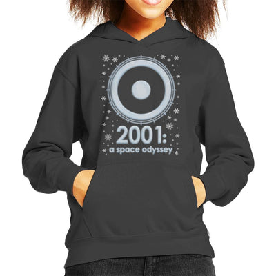 2001 A Space Odyssey Christmas Snow Logo Kid's Hooded Sweatshirt by Pheasant Omelette - Cloud City 7