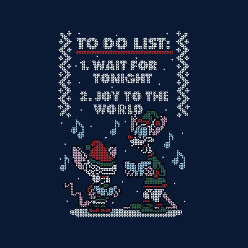 Pinky And The Brain Christmas.Pinky And The Brain Christmas List Knit Men S T Shirt