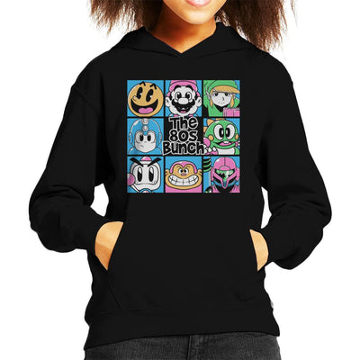 The 80s Bunch Nintendo Characters Kid's Hooded Sweatshirt by Ang Dzu - Cloud City 7