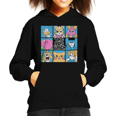 The 90s Bunch Video Game Characters Kid's Hooded Sweatshirt by Ang Dzu - Cloud City 7