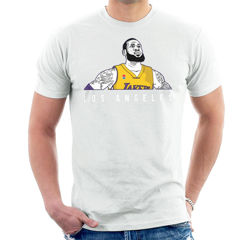 LeBron James Of The Los Angeles Lakers Men's T-Shirt by TrapMonkie - Cloud City 7