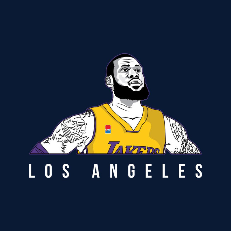 da1b9b71944 ... LeBron James Of The Los Angeles Lakers Men s Varsity Jacket by  TrapMonkie - Cloud City 7 ...