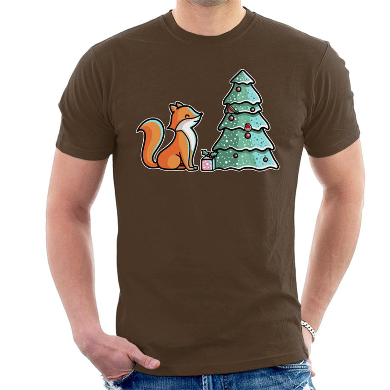 Cute Christmas Fox Men's T-Shirt by Flaming Imp - Cloud City 7