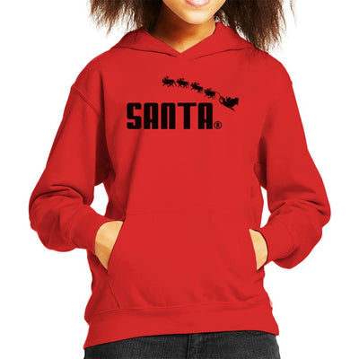 Santa Sports Brand Christmas Kid's Hooded Sweatshirt by Bohsky - Cloud City 7