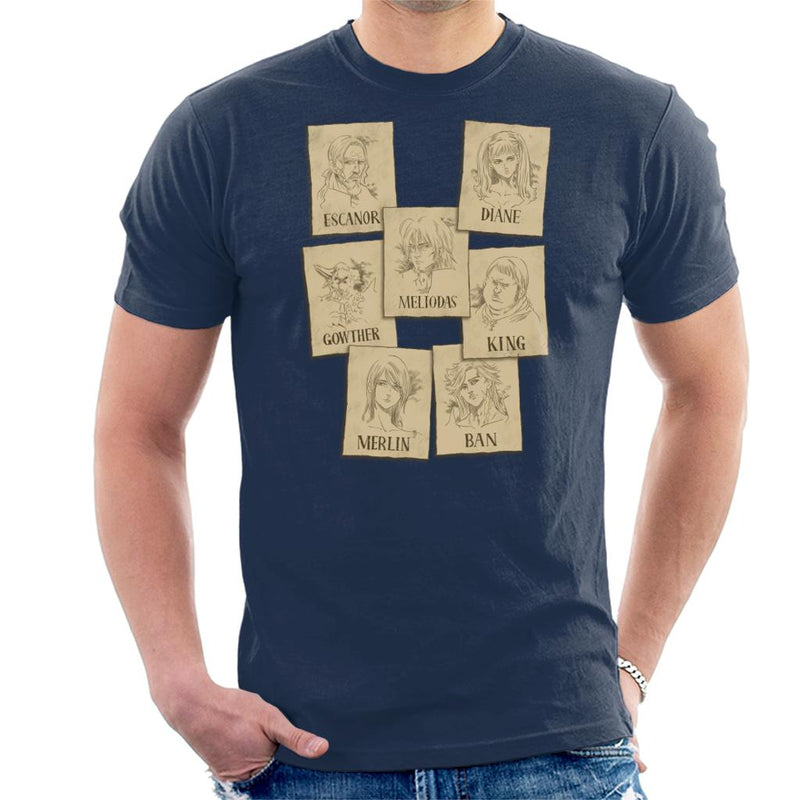 Seven Deadly Sins Wanted Posters Men's T-Shirt by Retro Freak - Cloud City 7