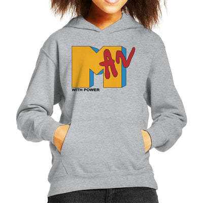 Man With Power MTV Kid's Hooded Sweatshirt by anneliarmo - Cloud City 7