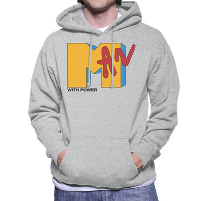 Man With Power MTV Men's Hooded Sweatshirt by anneliarmo - Cloud City 7
