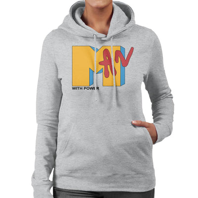 Man With Power MTV Women's Hooded Sweatshirt by anneliarmo - Cloud City 7