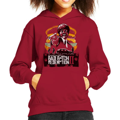 Bad Bitch Redemption II Pulp Fiction Kid's Hooded Sweatshirt by Ang Dzu - Cloud City 7