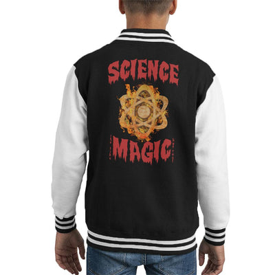 Science Is Like Magic But Real Kid's Varsity Jacket by Acepress - Cloud City 7
