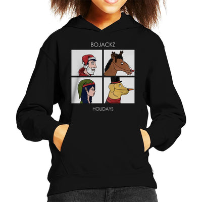 Bojackz Holidays Bojack Horseman Gorillaz Holiday Kid's Hooded Sweatshirt by Bohsky - Cloud City 7