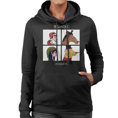 Bojackz Holidays Bojack Horseman Gorillaz Holiday Women's Hooded Sweatshirt by Bohsky - Cloud City 7